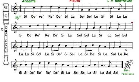Himno de la alegría flauta
